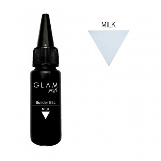 Glam Profi builder gel MILK 30ml